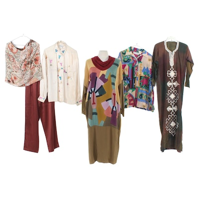 The Limited, Kris Dee and Other Caftan, Dress and Separates, Vintage