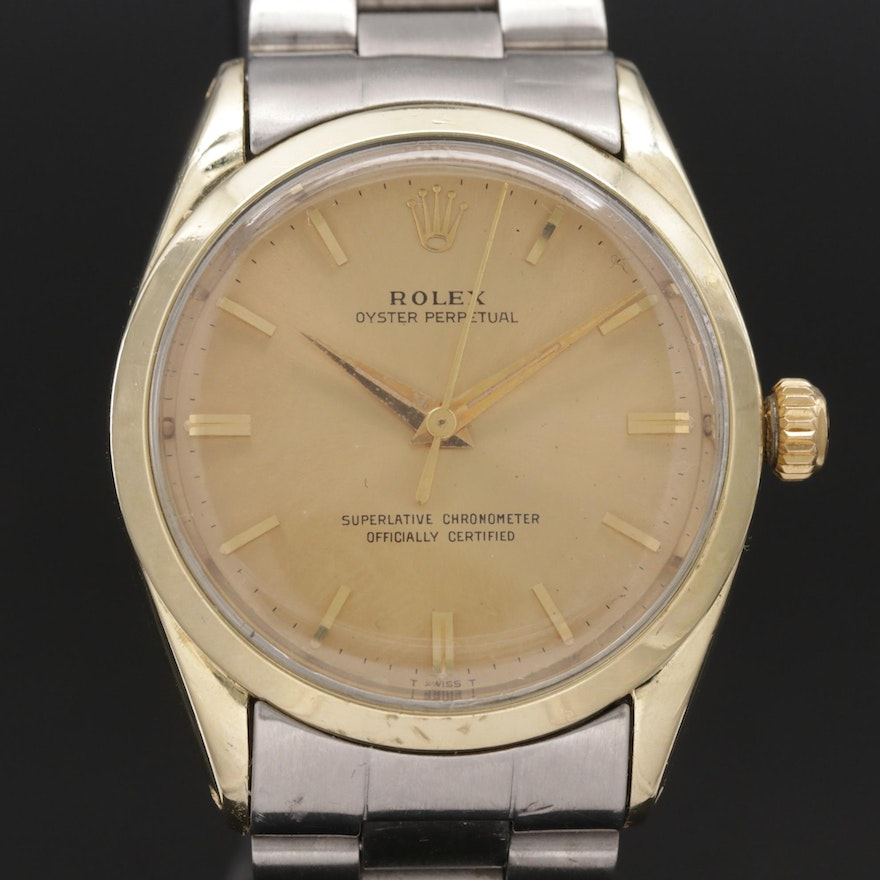 1963 Rolex Oyster Perpetual Two Tone Wristwatch