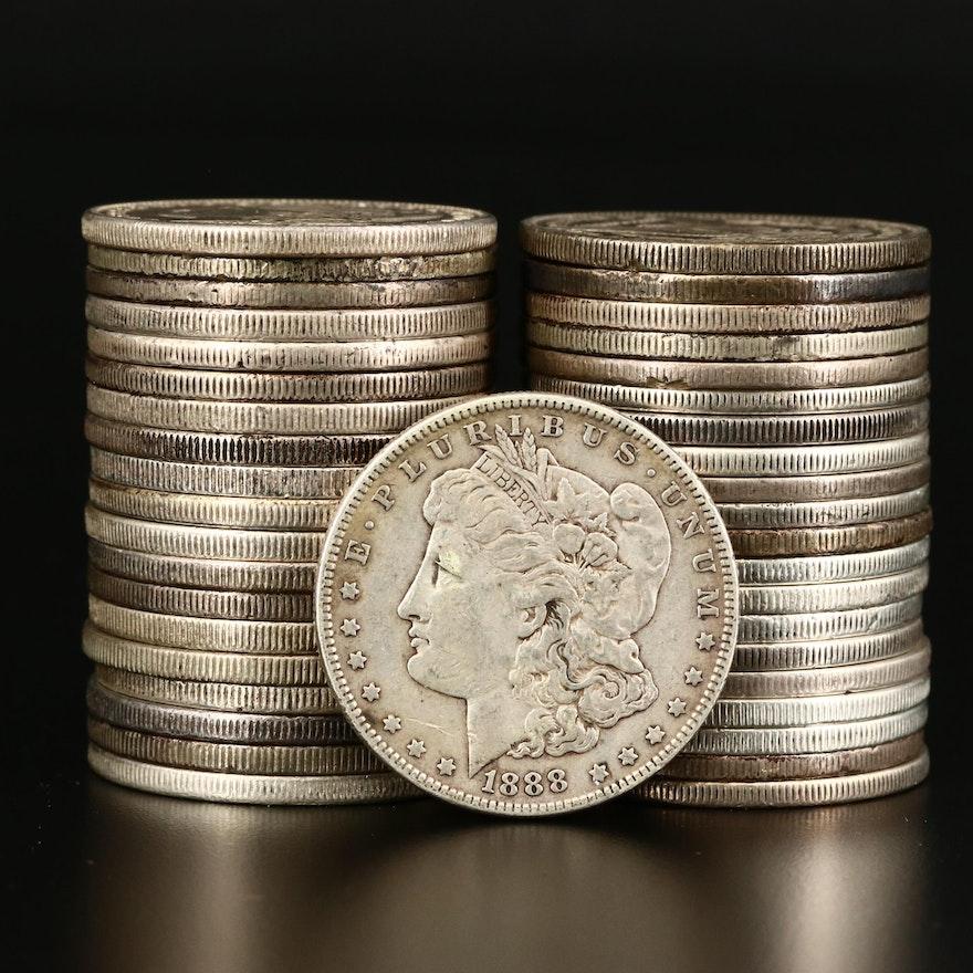 Forty Morgan Silver Dollars