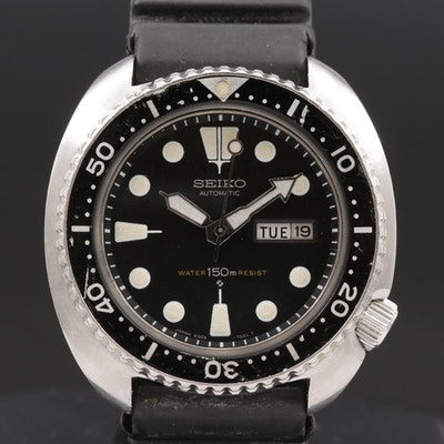 "Vintage Seiko Diver 150M ""Turtle "" Stainless Steel Automatic Wristwatch"