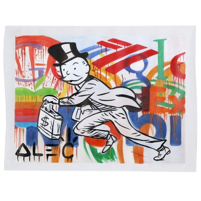 Alec Monopoly Acrylic Painting
