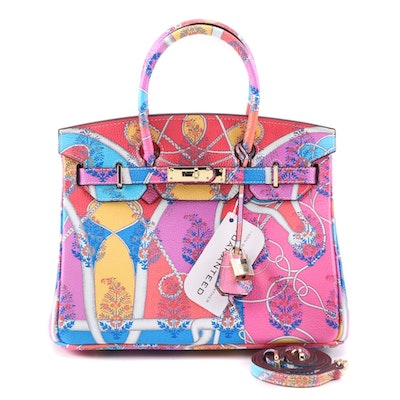 "Eileen Kramer ""Coup d'œil"" Printed Leather Structured Two-Way Satchel"