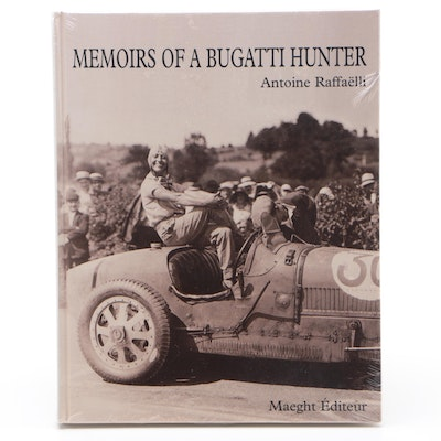 "First Edition ""Memoirs of a Bugatti Hunter"" by Antoine Raffaëlli, Original Wrap"