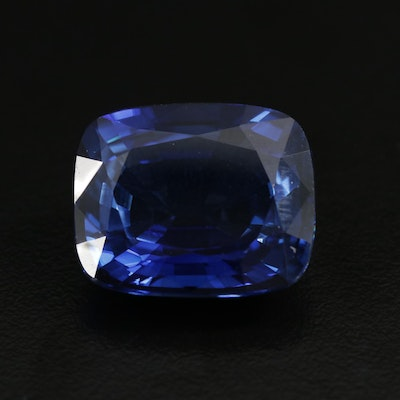 Loose 34.31 CT Synthetic Sapphire with GIA Report