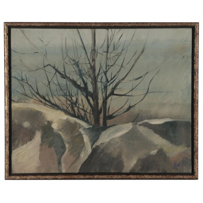 "John Metheany Landscape Oil Painting ""Tree"""