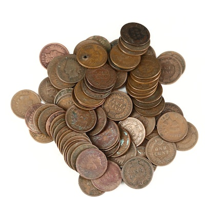 Eighty-Nine Indian Head Cents, 1864 to 1907