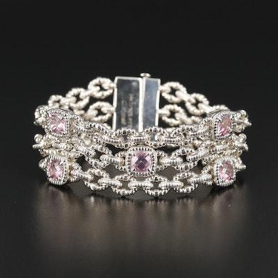 Charles Krypell Sterling Silver Topaz Bracelet