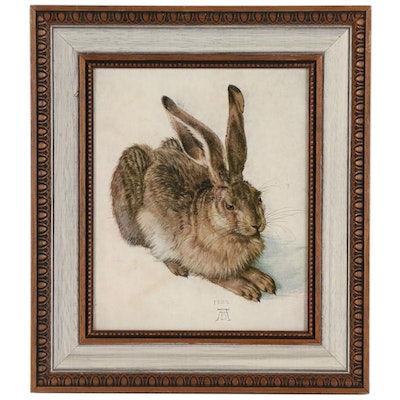 "Offset Lithograph after Albrecht Dürer ""Young Hare"""