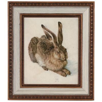 """Offset Lithograph after Albrecht Dürer """"Young Hare"""""""