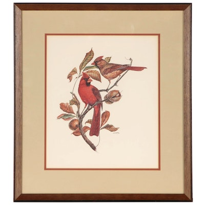 "W. D. Gaither Offset Lithographs ""Cardinal"""