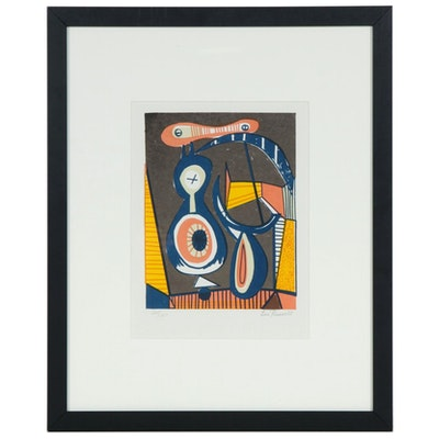 Leo Russell Abstract Serigraph