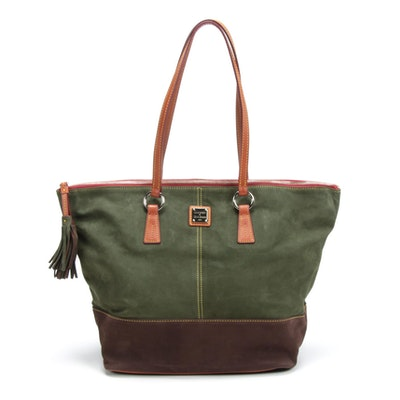 Dooney & Bourke Two-Tone Suede Tobi Tote Bag with Tassel