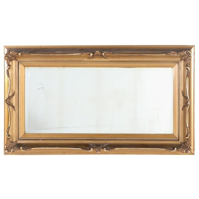 Beveled Glass Wall Mirror in Gilt Frame