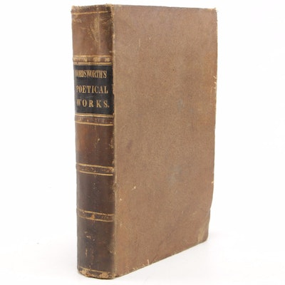 "1839 Leather Bound ""The Complete Poetical Works of William Wordsworth"" by Reed"
