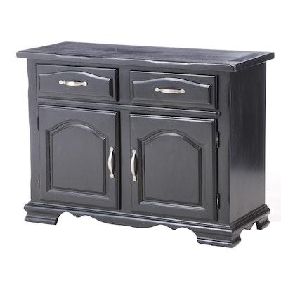 Contemporary Ebonized Wood Cabinet