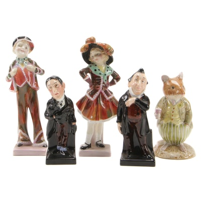 "Royal Doulton China Figurines Including ""Pearly Girl"", ""Pearly Boy"" and Others"
