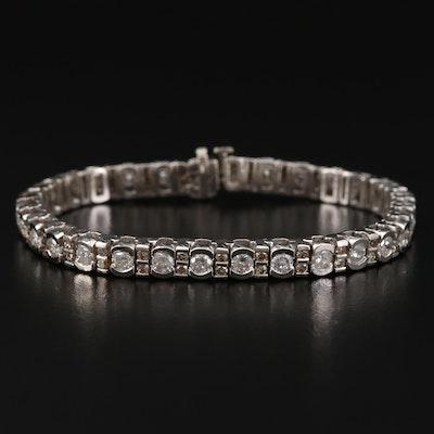 14K Gold 6.02 CTW Diamond Bracelet