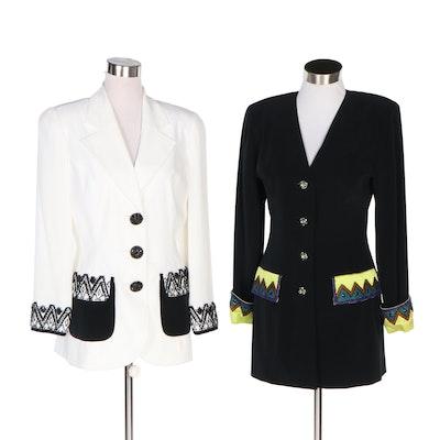 Nite Line Embellished Evening Jacket and Skirt Suit