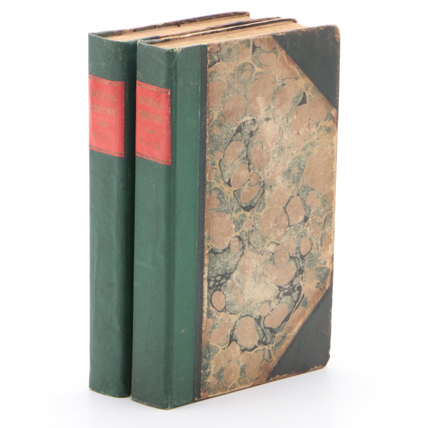 """""""History of the War of the Independence"""" Two-Volume Set by Charles Botta, 1826"""
