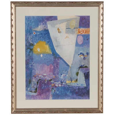 "After Henry Faulkner Offset Lithograph ""Kites of Spring"""