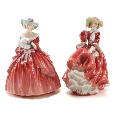 "Royal Doulton ""Top O' The Hill"" and ""Genevieve"" China Figurines"
