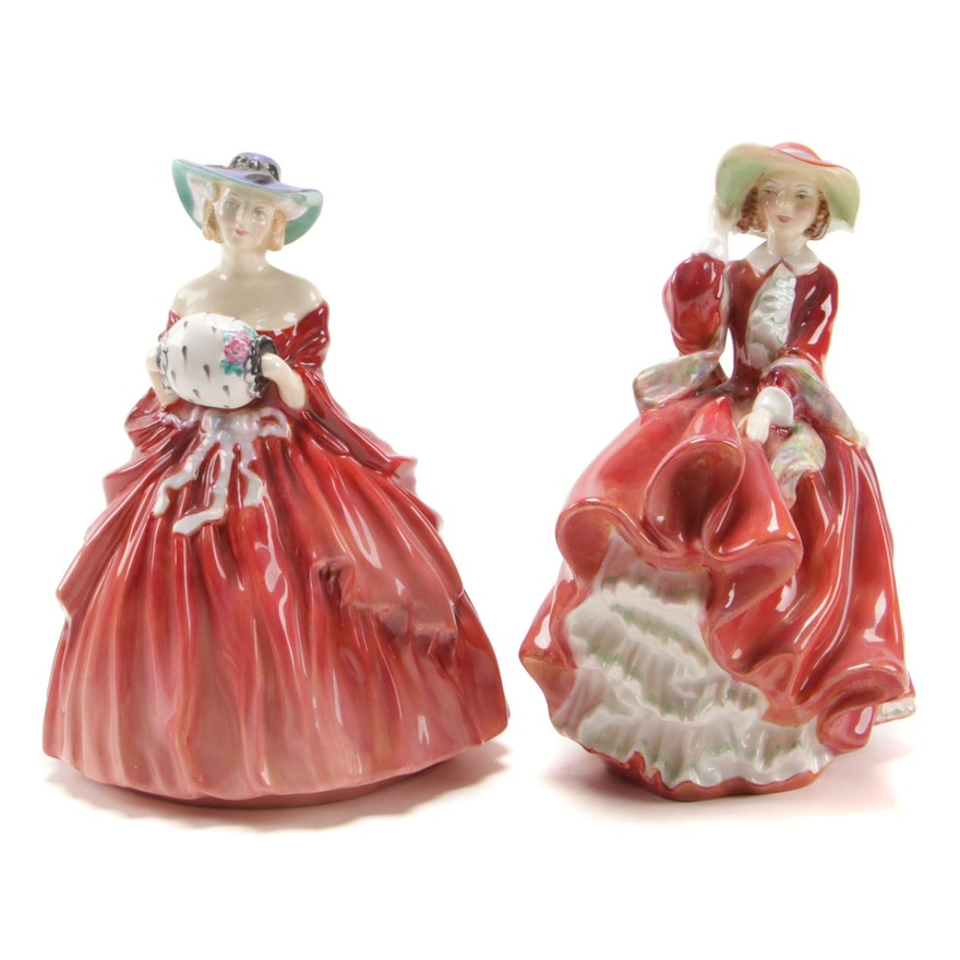 """Royal Doulton """"Top O' The Hill"""" and """"Genevieve"""" China Figurines"""