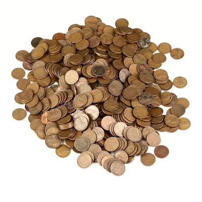 Over 590 Lincoln Wheat Cents