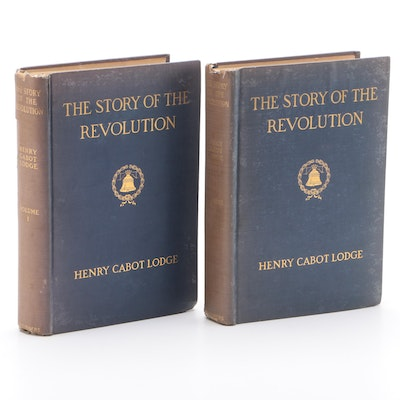 """The Story of the Revolution"" Two-Volume Set by Henry Cabot Lodge, 1898"