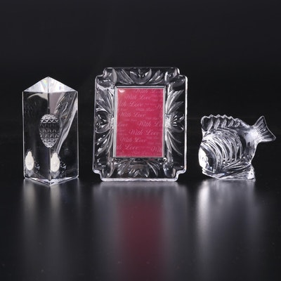 "Waterford Crystal Fish and Times Square ""Star of Hope"" Paperweights and More"