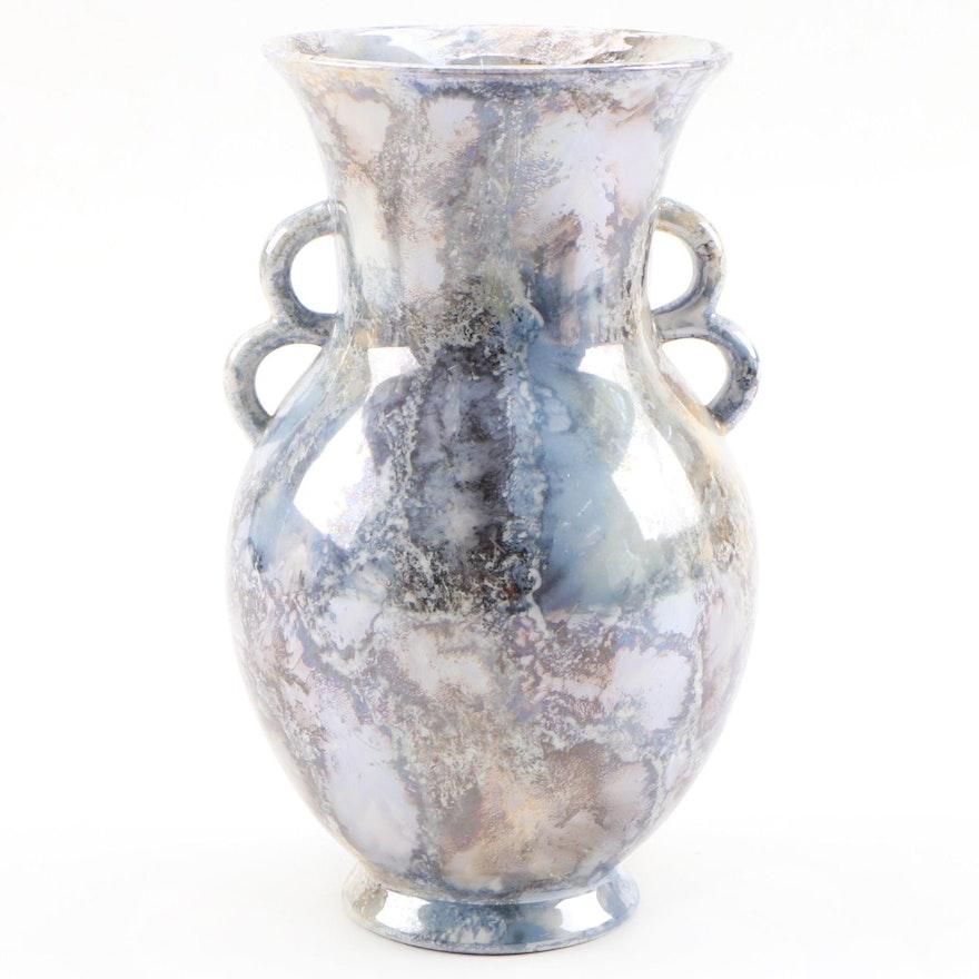 Arabia of Finland Marbled Luster Porcelain Vase Designed by Thure Öberg