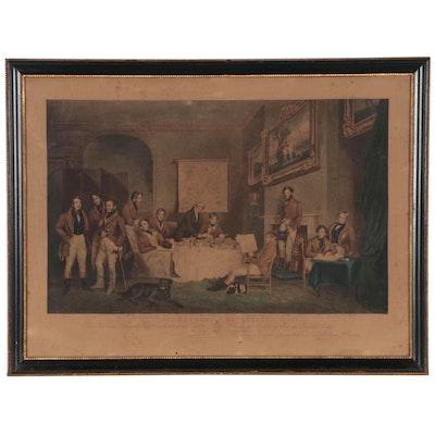 "Mezzotint Engraving after Francis Grant ""The Melton Breakfast"", 1839"