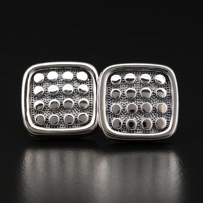 Scott Kay Sterling Silver Dot Grid Cufflinks