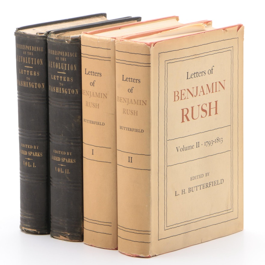 """""""Letters of Benjamin Rush"""" and """"Letters to Washington"""" Two-Volume Sets"""