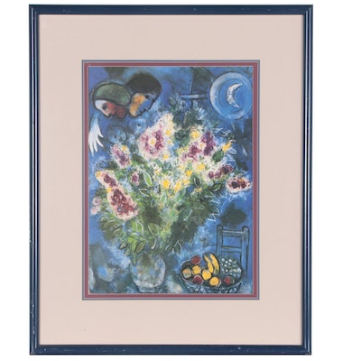 """Offset Lithograph after Marc Chagall """"Les Giroflees"""""""
