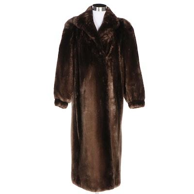 Phantom Sheared Beaver Fur Full-Length Coat from Thomas McElroy Furs
