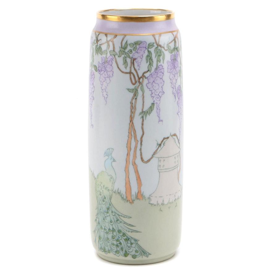 Bernardaud & Co. Limoges Porcelain Artist Signed Vase, Early 20th Century