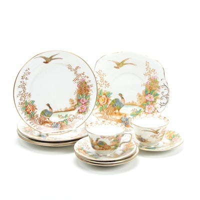 "Sutherland ""Exotic"" Bone China Dinnerware, Mid-20th Century"