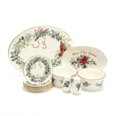 "Lenox ""Winter Greetings"" Porcelain Dinner and Serveware"
