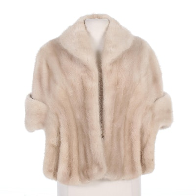 Pastel Mink Fur Stole by Zenthoefer, Mid-20th Century