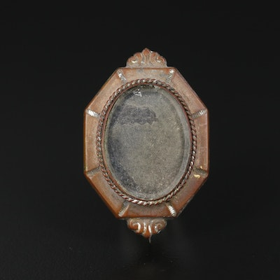 Antique Glass Mourning Brooch
