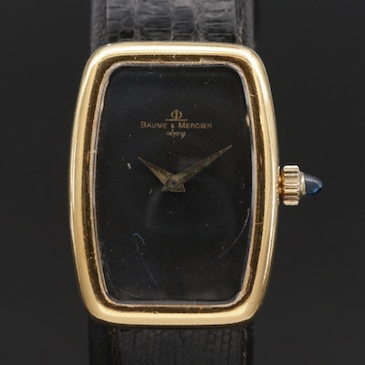Vintage Baume & Mercier 18K Stem Wind Wristwatch