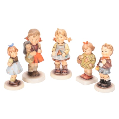 Goebel M.I. Hummel Club Edition Hand-Painted Bisque Porcelain Figurines