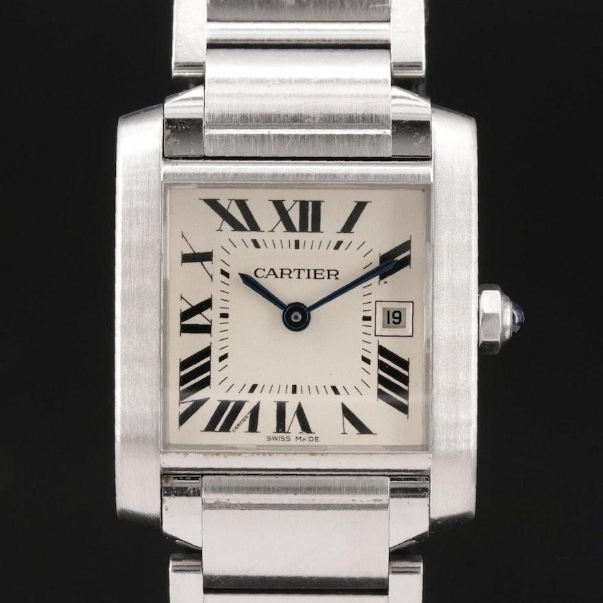 Cartier Tank Francaise Stainless Steel Quartz Wristwatch