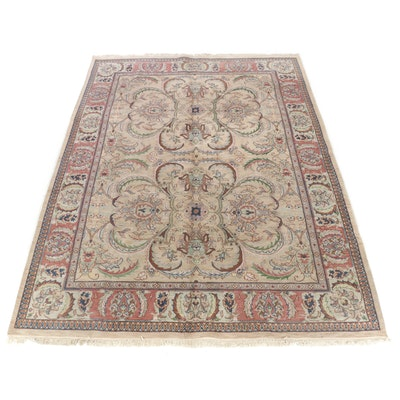 9'2 x 12'6 Hand-Knotted Indo-Persian Tabriz Room Size Rug, 2000s
