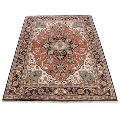 8'10 x 12' Handwoven Indo-Persian Heriz Serapi Room Size Rug, 2010s