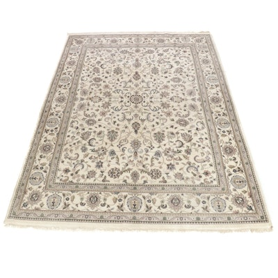 9'1 x 12'6 Handwoven Indo-Persian Tabriz Room Size Rug, 2000s