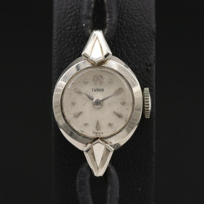 Tudor 18K Stem Wind Wristwatch, Vintage
