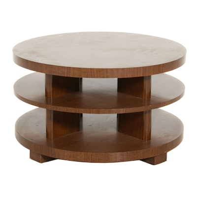 Mid Century Modern Three Tiered Coffee Table