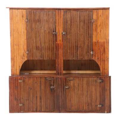 Pine Wainscot Cupboard, Early 20th Century