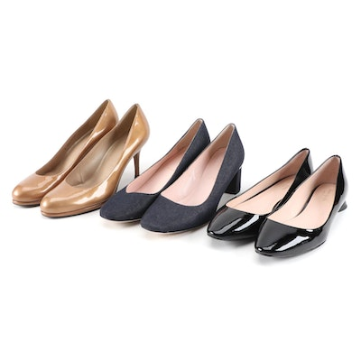Kate Spade and Stuart Weitzman Patent Leather and Textile Pumps and Shoes